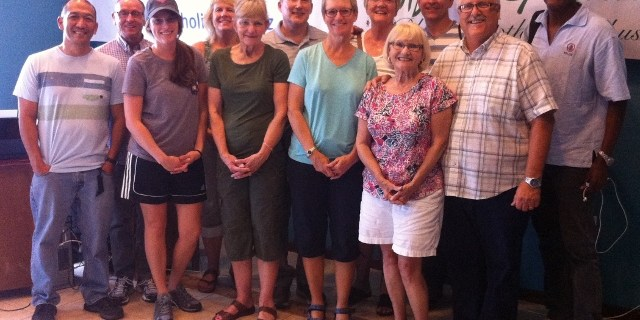 The He Intends Victory Team 2015 just a couple hours after arriving in Belize City!