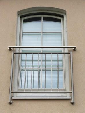 französischer Balkon aus Edelstahl, Absturzsicherung, Polen