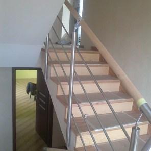 Treppengeländer mit Holz