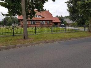 Zaunanlage, Zaun feuerverzinkt und pulverbeschichtet, Polen