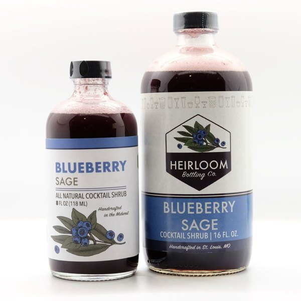 Blueberry Sage shrub bottles