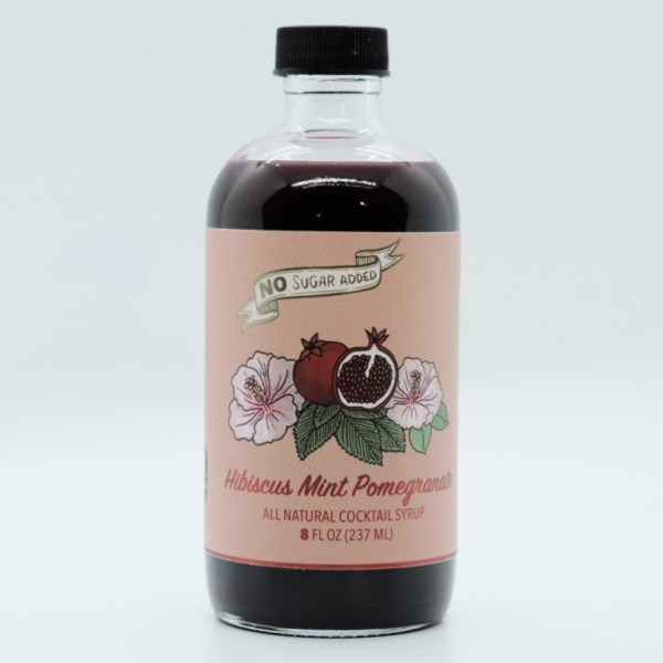 Hibiscus Mint Pomegranate Syrup No Added Sugars