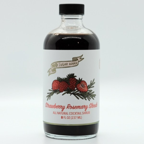 Strawberry Rosemary Shrub