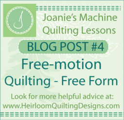 Learn Free-motion Quilting - Free form