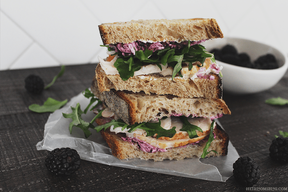 Blackberry-Goat Cheese Turkey Sandwiches