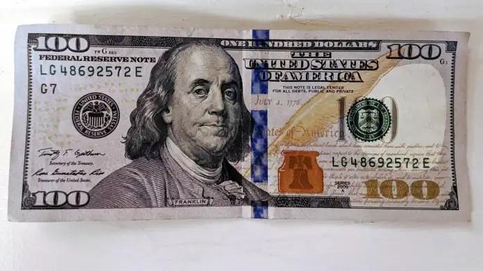 Banknote 100 US dollars