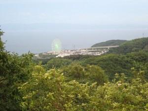 淡路島から眺めた瀬戸内海
