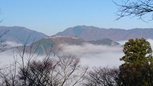 雲海の城で有名な竹田城