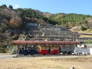 神子畑と明延間を走った「一円電車」