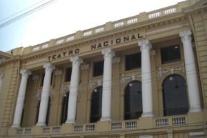 イエローのモダンな国立劇場
