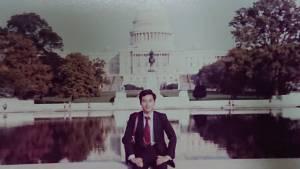 ワシントンでの20代記念写真
