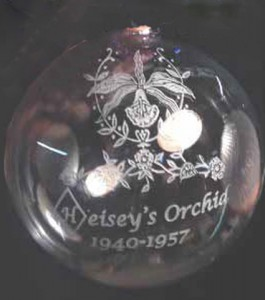 Third Limited Edition Heisey Glass Ornament