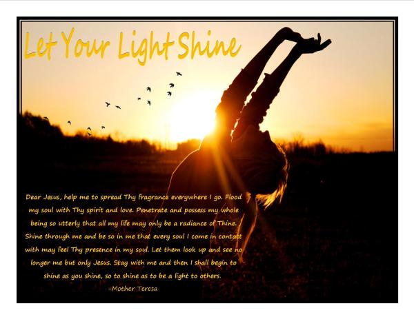 Let your light shine | heisourstrongtower