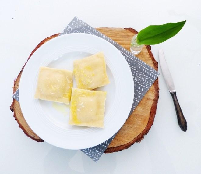 Selbstgemachte Ravioli mit Bärlauch Ricotta Füllung