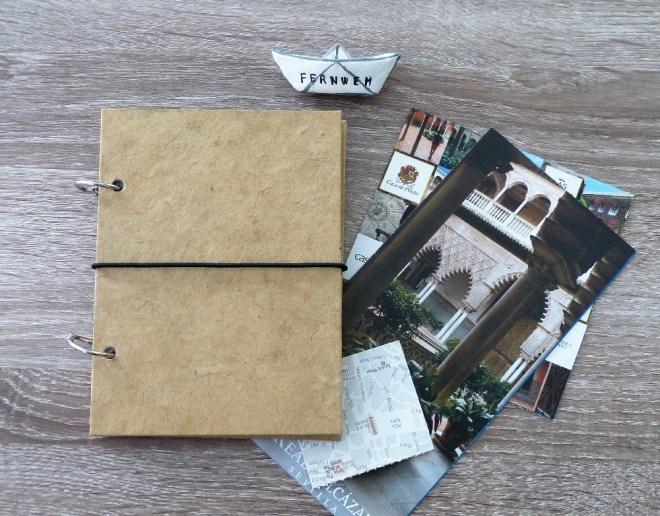 DIY Reisetagebuch mit Binderingen