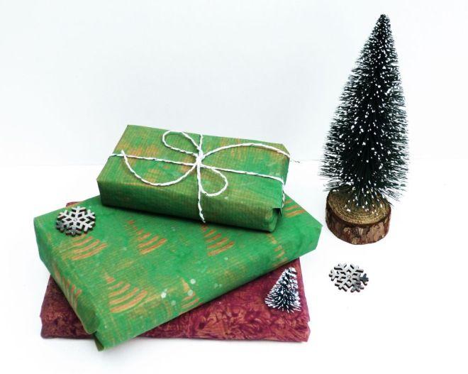 weihnachtliches Kleisterpapier