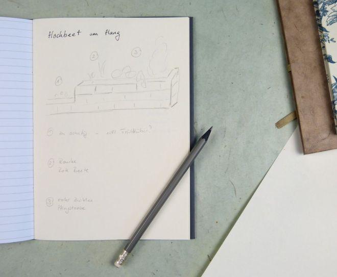 Notizheft mit Skizzenpapier