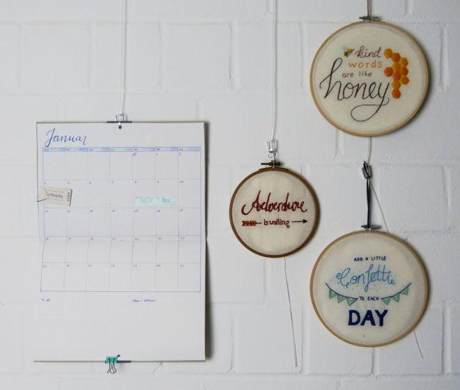DIY Monatsplaner für die Wand und für den Schreibtisch