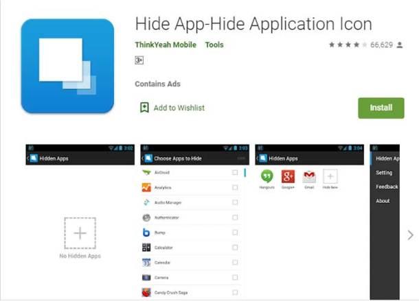 Aplikasi Hide App