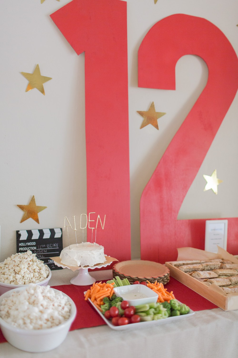 Pre-teen movie night birthday party