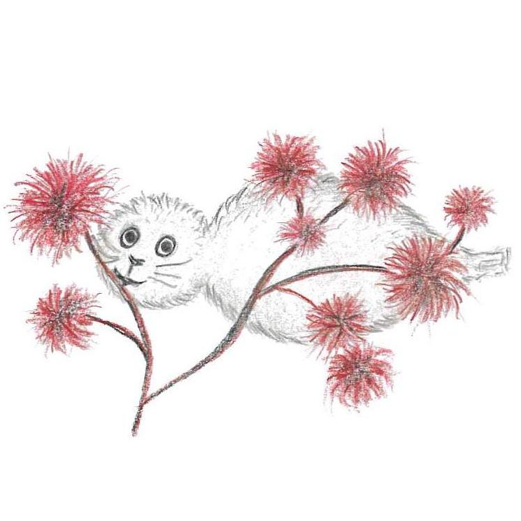 Bild av Noriko med rödslick