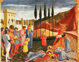The martyrdom of Saints Cosmas and Damian