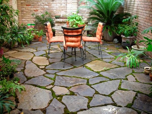 backyard stone patio design ideas Outdoor Small Backyard Landscaping Ideas With Installing