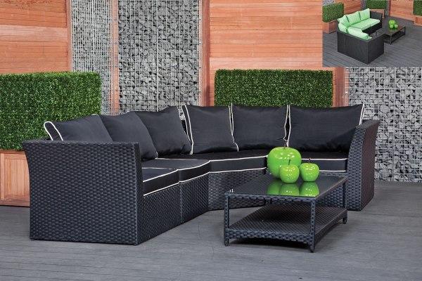 black wicker garden furniture Black Rattan Garden Furniture Cool Wicker Outdoor Patio