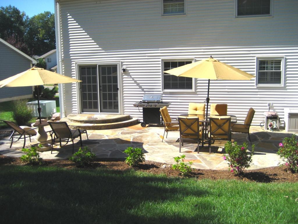Creative Flagstone Patio Installation On Backyard ... on Flagstone Backyard Patio id=16055