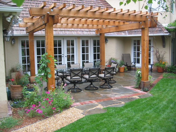 Simple Pergola Ideas For Small Backyards Decoration With ... on Simple Concrete Patio Designs id=41688