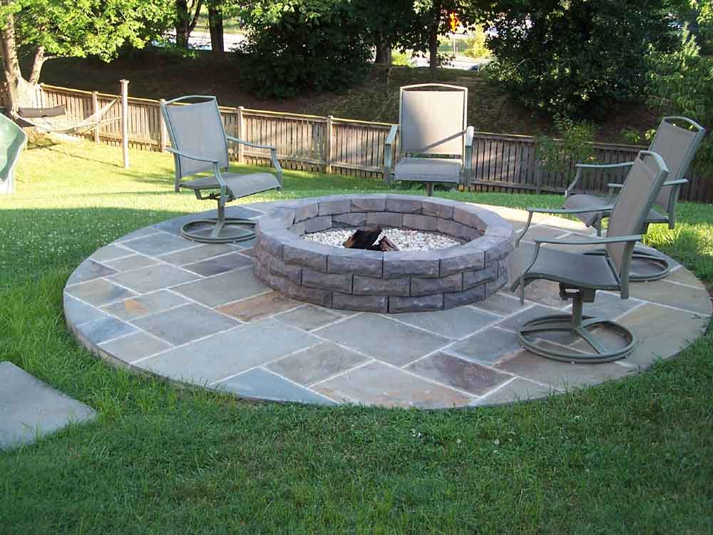 Stunning Backyard Patio Designs Ideas With Patio Flagstone ... on Backyard Patio Designs With Fire Pit  id=75356
