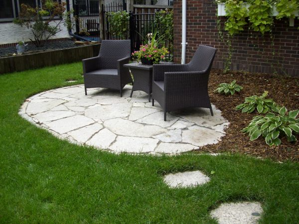 small patio ideas Stylish Installing Flagstone Patio Pavers Backyard Design