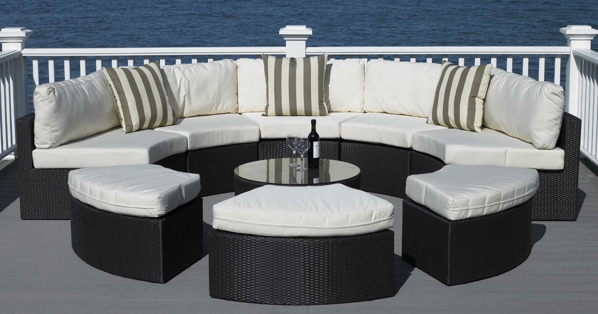 best round patio furniture with home