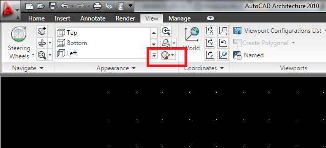 autocad-view-style