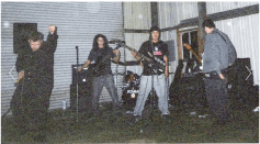 Fr. L: Derrick, Matt, Hobart (Drums), Phillip & Ray. Murphy's, CA. Winter 2003.
