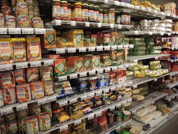 Supermarkt vol keuzes