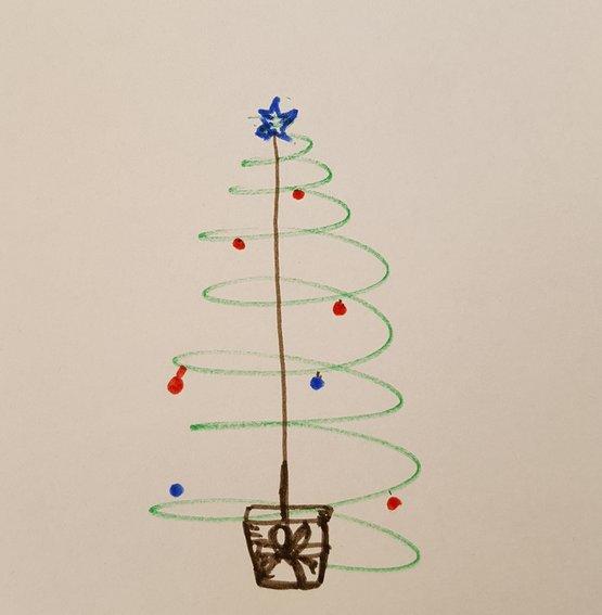 De orkaan is eigenlijk een kerstboom.