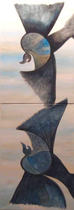 Diptico -Acrylique s/toile - 140 x 50 cm