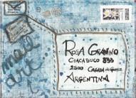 "2012-My collaboration to Rosa Gravino's Mail Art Project ""Artist Book Poema Visual"""