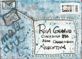 "2012-My collaboration to Rosa Gravino's Mail Art Project ""Artist Book Poema Visual"""