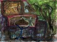"""2012-""""La Ville au Clair de Lune"""" My collaboration to Rosa Gravino's Mail Art Project """"Artist Book Poema Visual"""""""