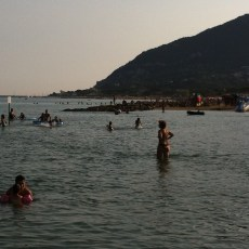 The gorgeous blue-flag beach at San Felice Circeo