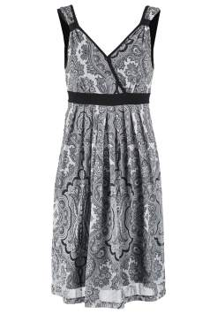 Anna Field Jerseyklänning - black/white