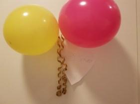 Ballonger på dörren såklart