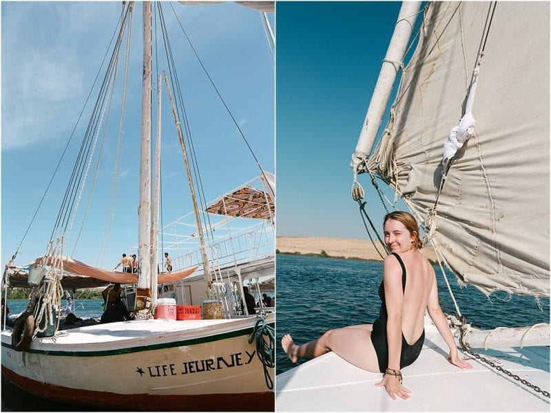 Felucca Odyssey Travel Talk Tour girl on felucca in Nile River