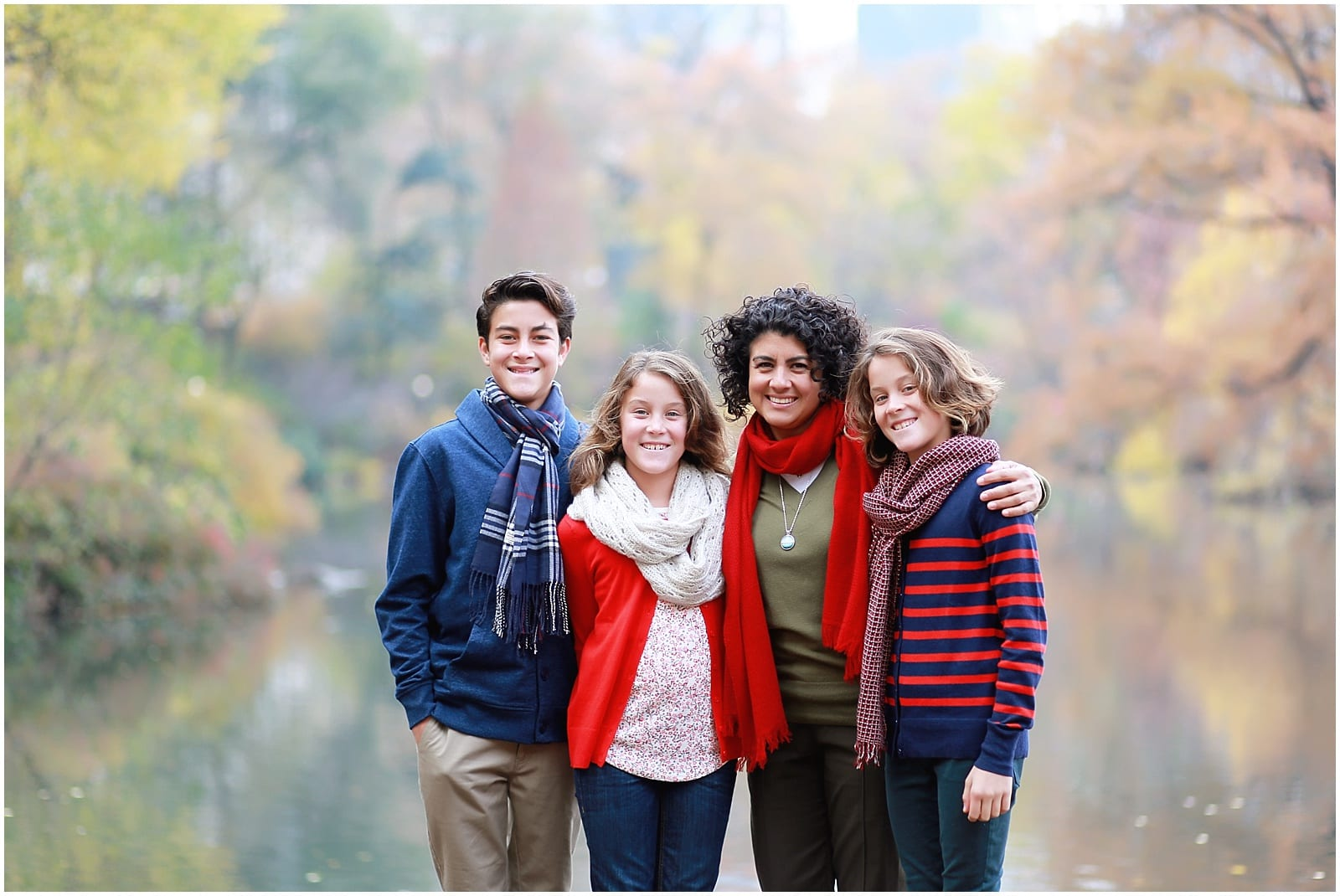 Family Christmas Photo Session in Central Park: NYC Family Photographer Helena Woods shares her tips for a successful Christmas photo session