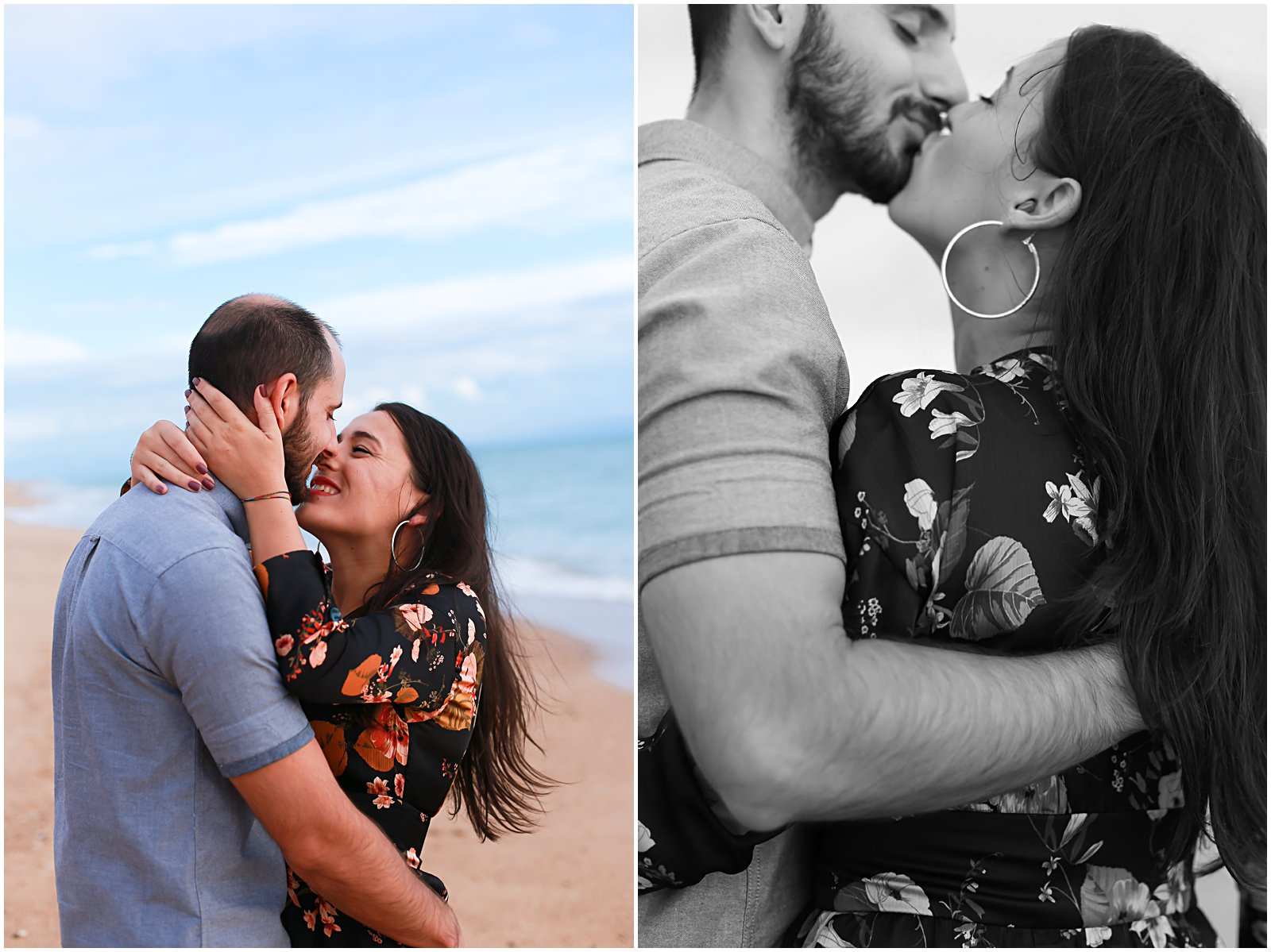 couple kissing in love at portugal algarve beach