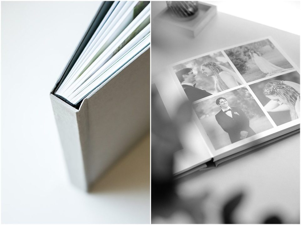 Artifact Uprising layflat wedding album photographs with Helena Woods