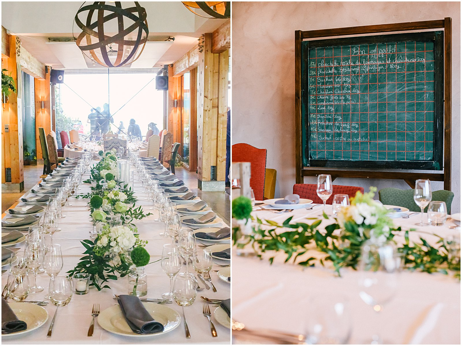 Reception at Achilles Domaine Winery and Vineyards wedding in Alsace France photographed by Helena Woods