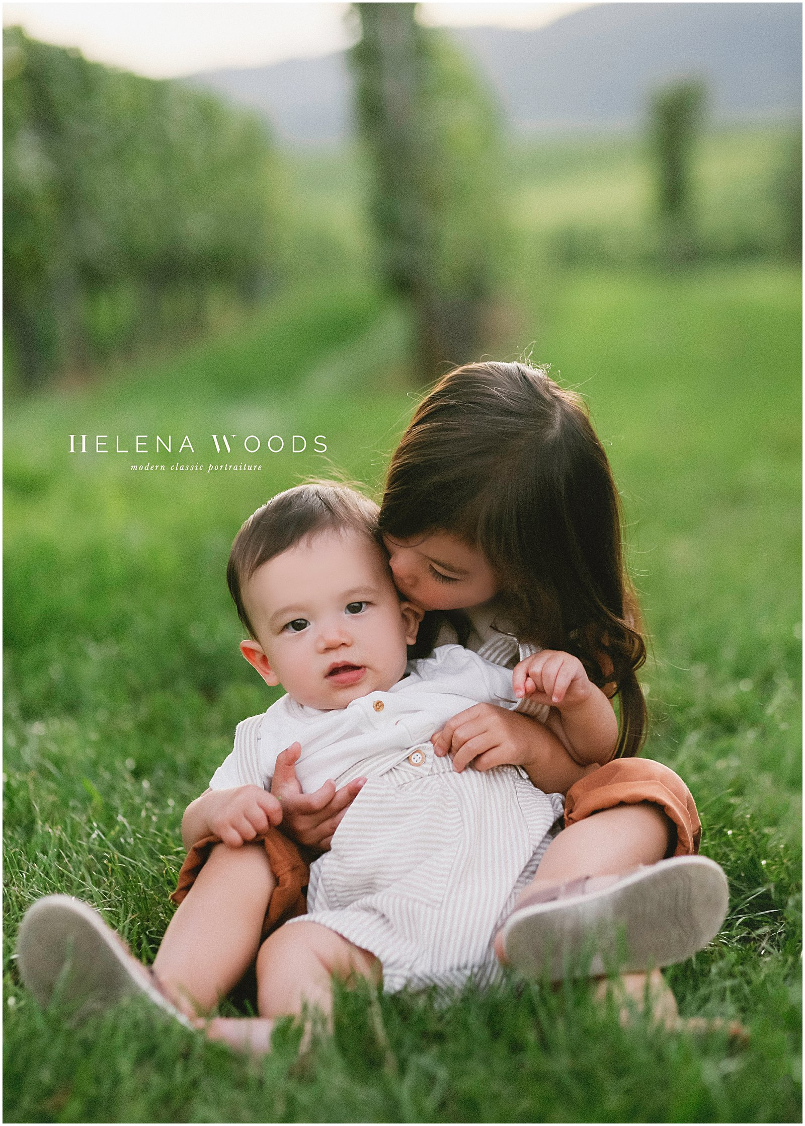 kids smiling with siblings photographed by Helena Woods family photographer